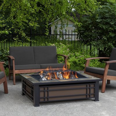 Monroe Rectangle Wood Burning Firepit