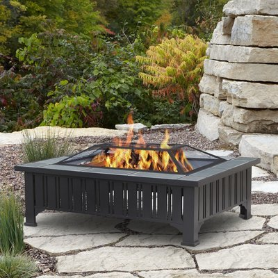 Muncie Rectangle Wood Burning Firepit