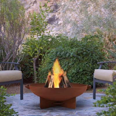 Aspen Wood Burning Fire Bowl / Rust