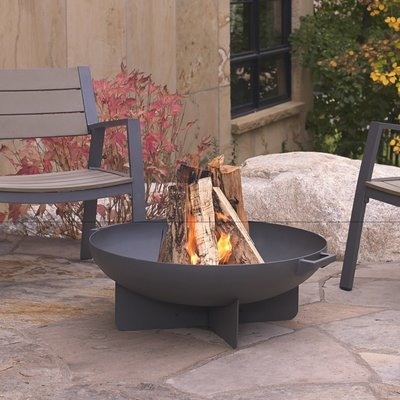 Aspen Wood Burning Fire Bowl / Grey