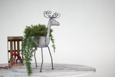 Galvanized Deer Planter