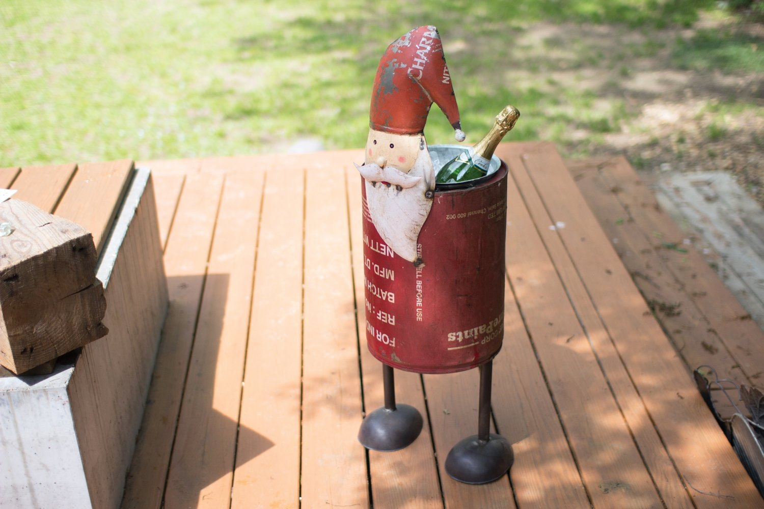 Recycled Iron Santa Drink Cooler