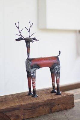 Recycled Metal Red Deer / Set of 2