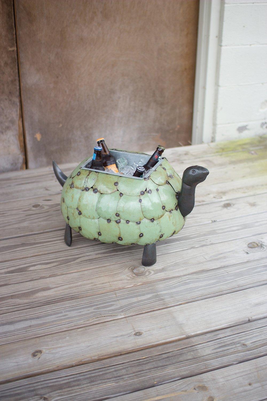 Recycled Metal Tortoise Planter / Drink Tub