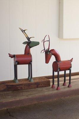Metal Reindeer / Set of 2