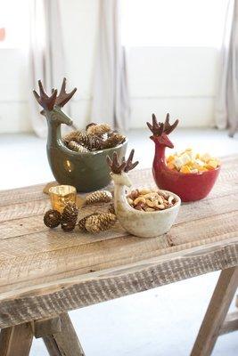 Ceramic Deer Bowls / Set of 3