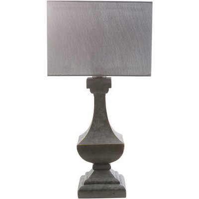 Davis Outdoor Table Lamp |  Charcoal