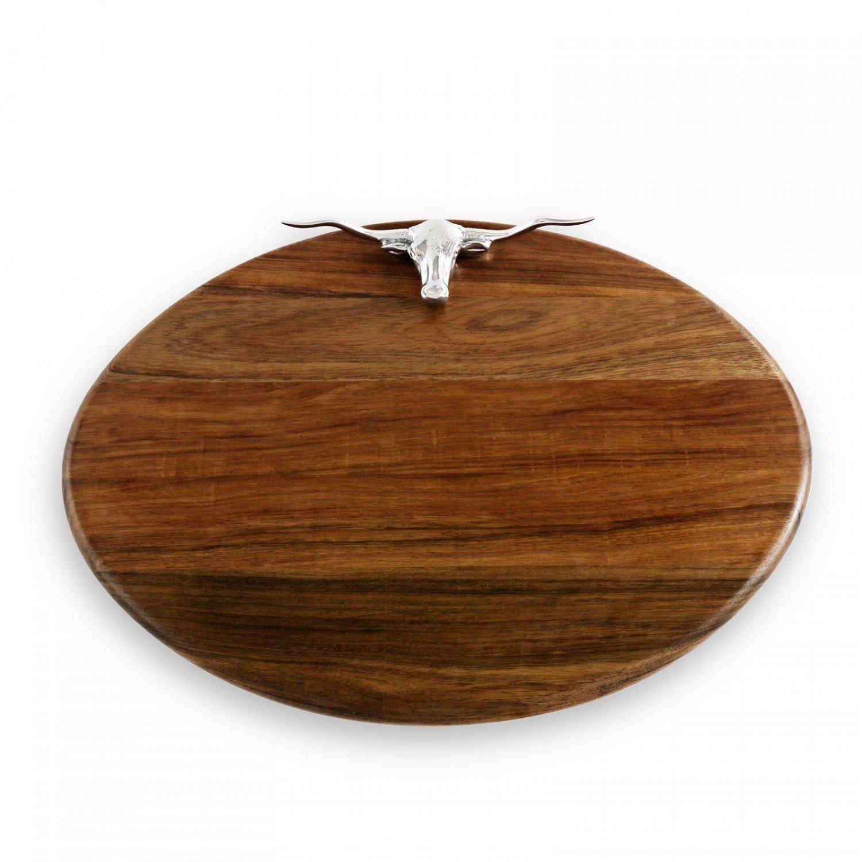 Western Longhorn Oval Cutting Board 03718