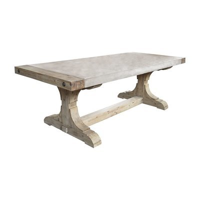 Pirate Concrete and Wood Dining Table