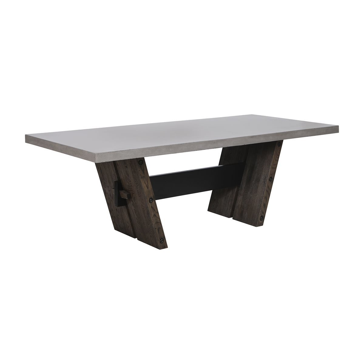Hoss Concrete and Wood Dining Table