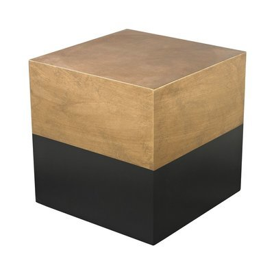 Black and Gold Draper Cube Table