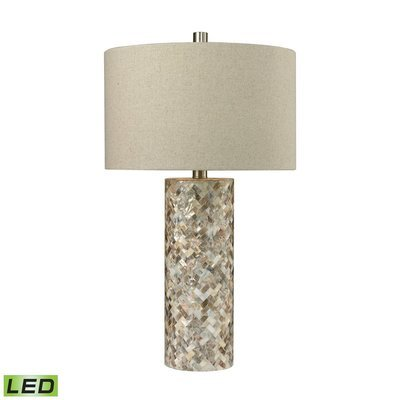 Herringbone Mother of Pearl Table Lamp