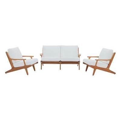 3 Piece Teak Wood  Conversation Set