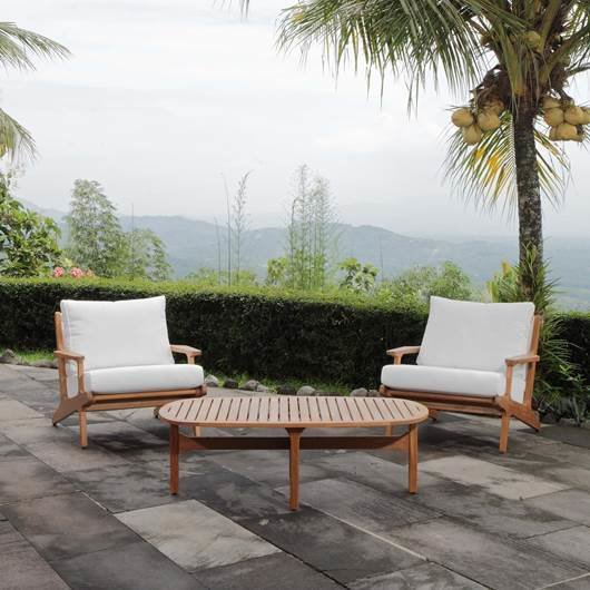 3 Piece Teak Wood  Chat Set