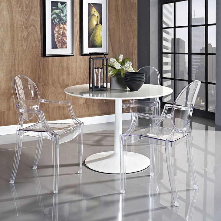 Crystal Dining Arm Chair / 8 Color Options