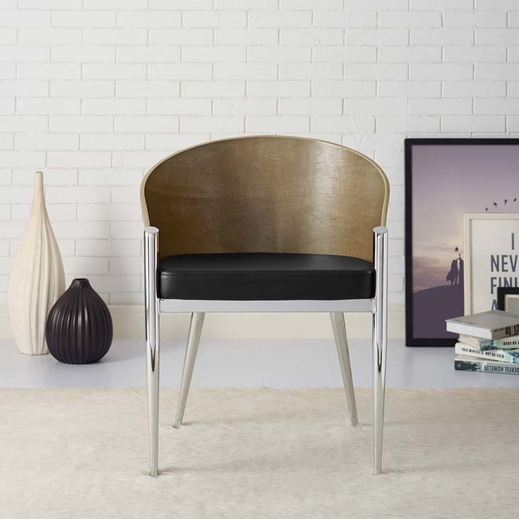 Aldren Dining Chair / Chrome