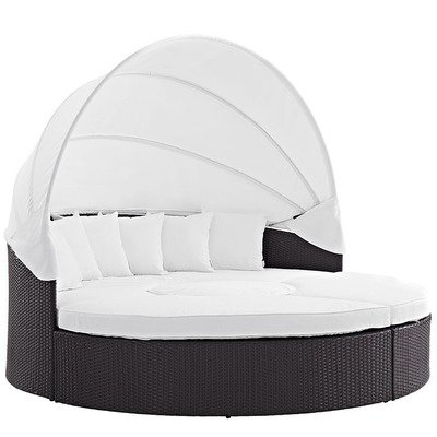 Hinsdale Patio Circular Canopy Daybed Sectional