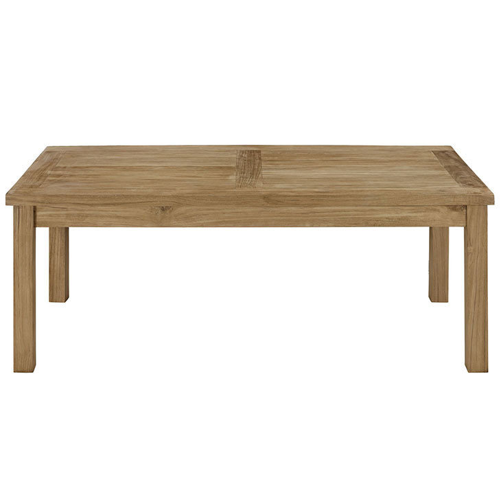 Belmont Harbor Rectangle Teak Coffee Table