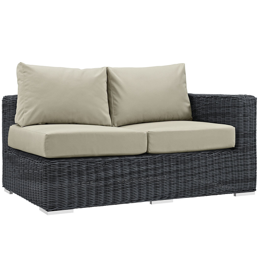 North Avenue Patio Sectional Right Arm Loveseat with Sunbrella® Cushion