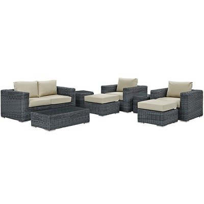 North Avenue Patio 8 Piece Conversation Set | with Sunbrella® Cushion