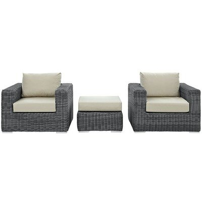 North Avenue Patio 3 Piece Conversation Set  with Sunbrella® Cushion