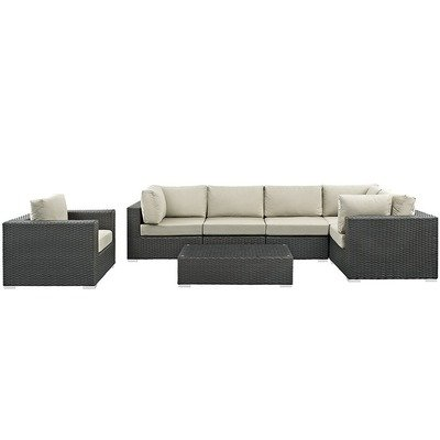 Soho Patio 7 Piece Sectional Set with Sunbrella® Cushion