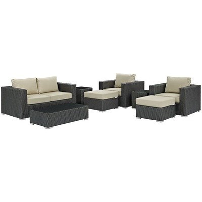 Soho Patio 8 Piece Conversation Set with Sunbrella® Cushion