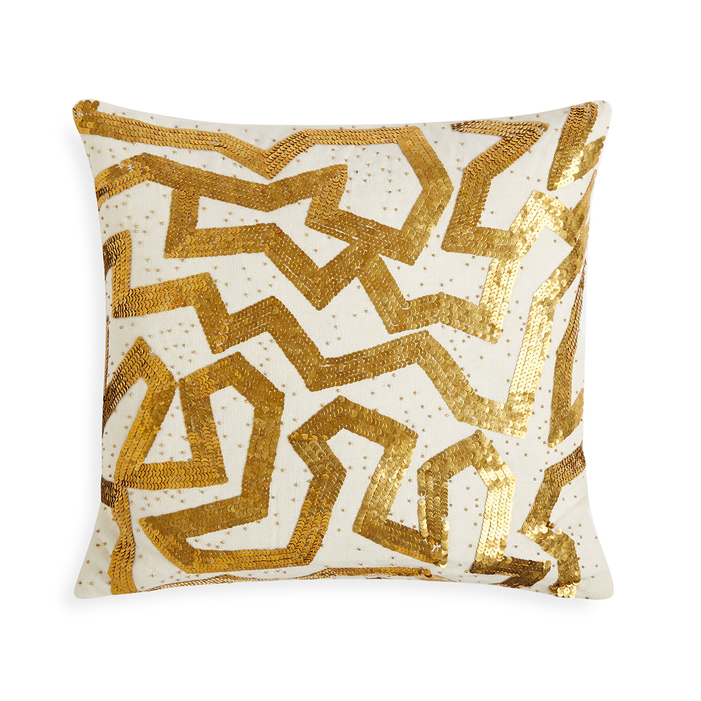 "Jonathan Adler Talitha Graffiti Gold 18"" x 18"" Pillow"