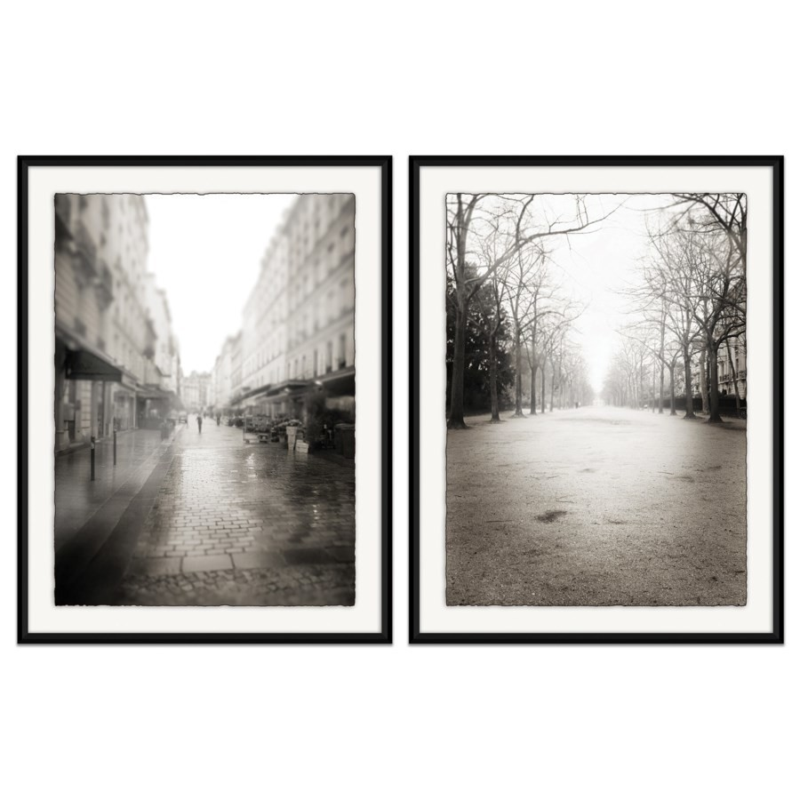 "When your taste in trendy home decor has changed, update your walls with the help of Chicago Living. Purchase series like The ""Paris Street"" series, which features ""Rue Claire at Dawn"" and ""Champ de Mars at Dawn."""