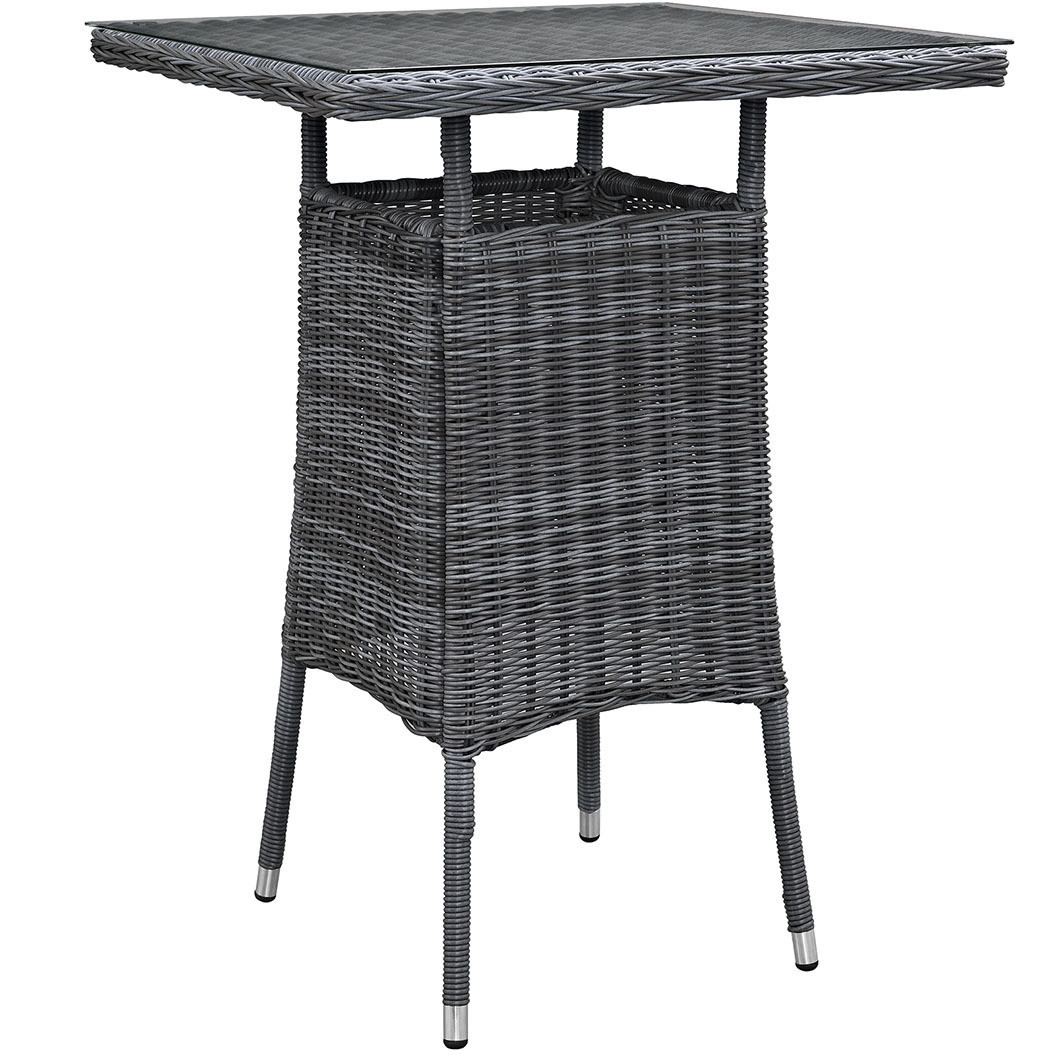 North Avenue Patio Bar Table with Glass Top