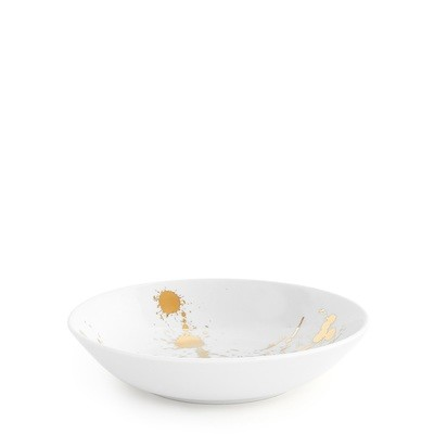 Jonathan Adler 1948 White and Gold Soup Bowl / Set of 8