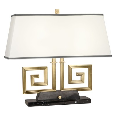 Mykonos Double Brass  or Nickel Table Lamp