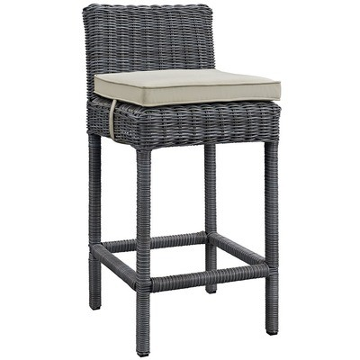 North Avenue Patio Bar Stool with Sunbrella® Cushion