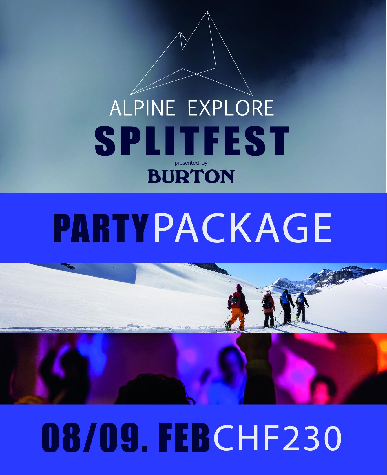 Party Package - Alpine Explore Splitfest 2020 002
