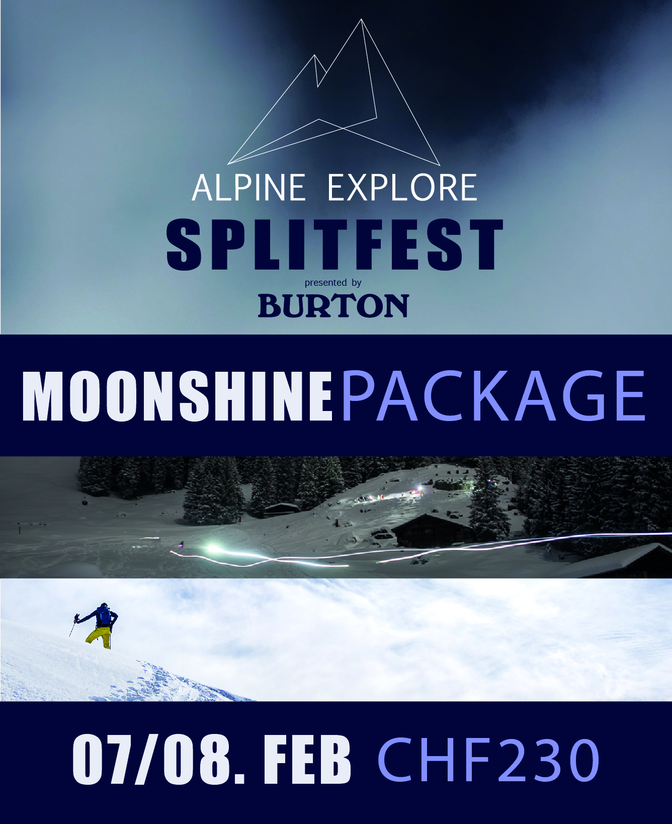 Moonshine Package - Alpine Explore Splitfest 2020 001