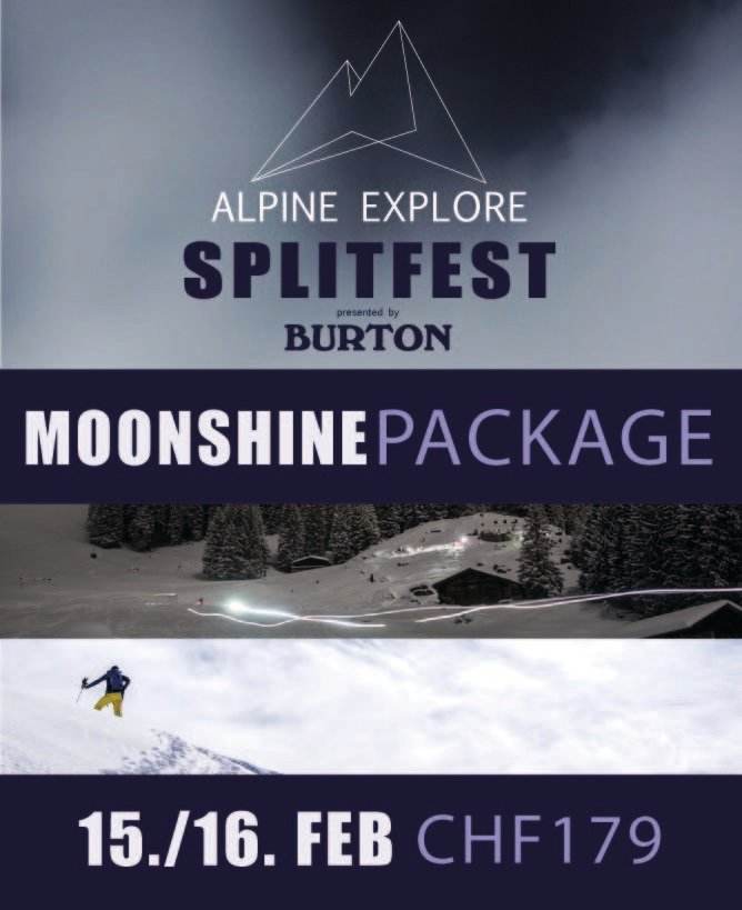 Moonshine Package - Alpine Explore Splitfest 2019