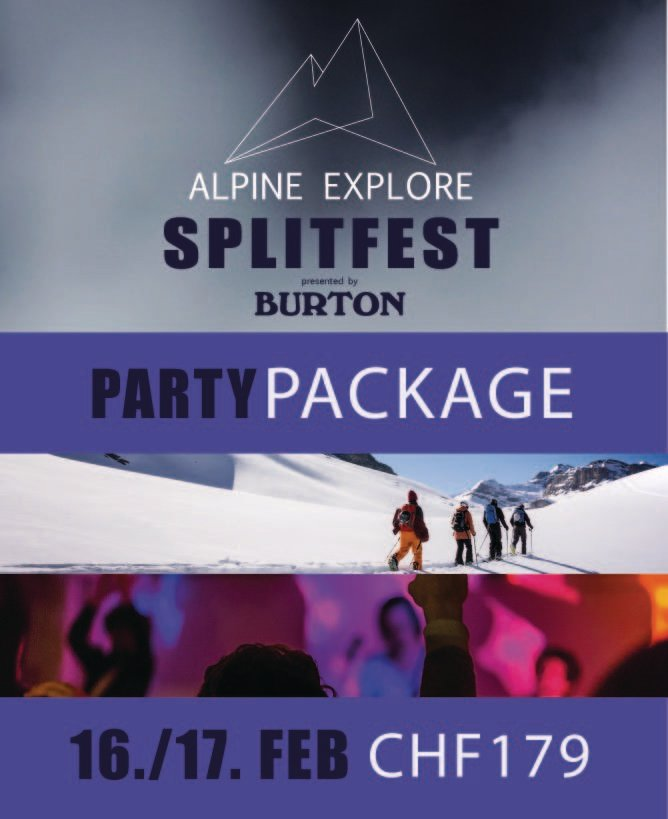 Party Package - Alpine Explore Splitfest 2019