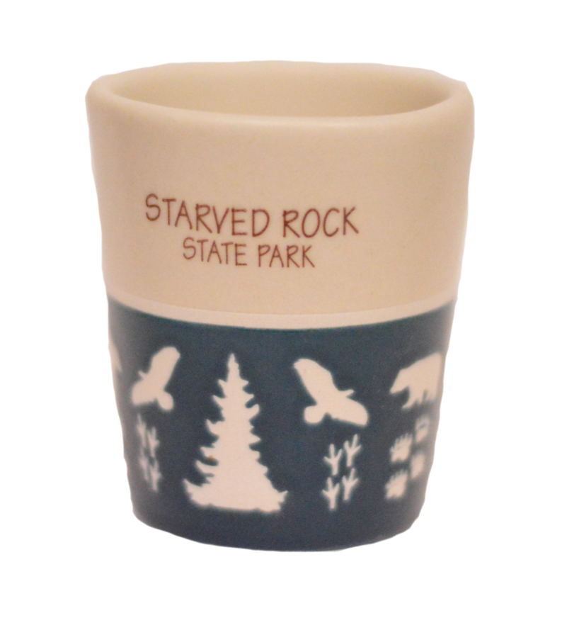 Starved Rock Animal Prints Shot Glass