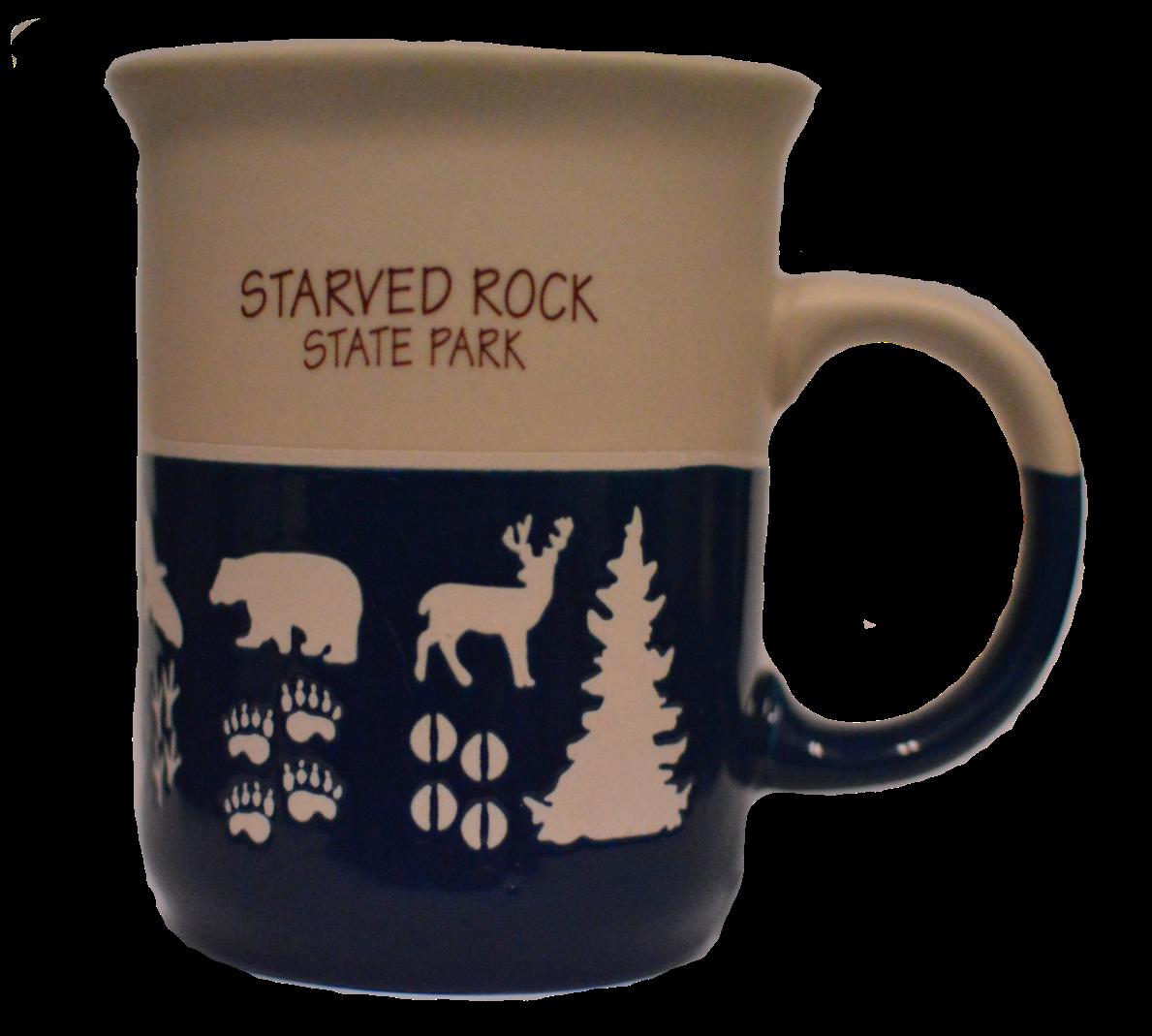 Starved Rock Animal Prints Coffee Mug