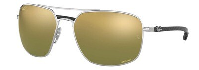 Ray Ban 8322CH Chromance Silver Green Mirror