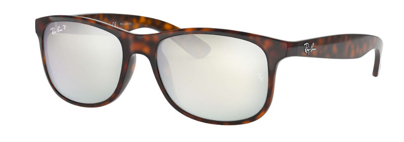 Ray Ban Andy Tortoise Silver Flash Polarized RB4202 710/Y4 55-17