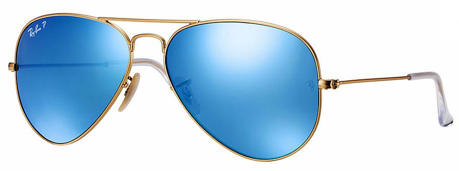 Ray Ban Aviator Flash Lenses POLARIZED BLUE FLASH