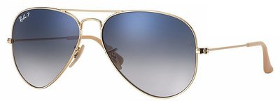 Ray Ban Aviator Gradient Blue Grey Polarized
