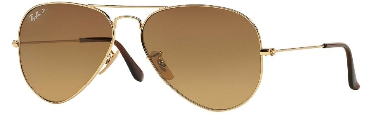 bd005224ae1cf Ray Ban Aviator Gold Brown Gradient RB3025 001 M2 58-14