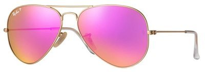 Ray Ban Aviator Cyclamen Flash Polarized