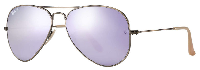 Ray Ban Aviator Lilac Flash POLARIZED