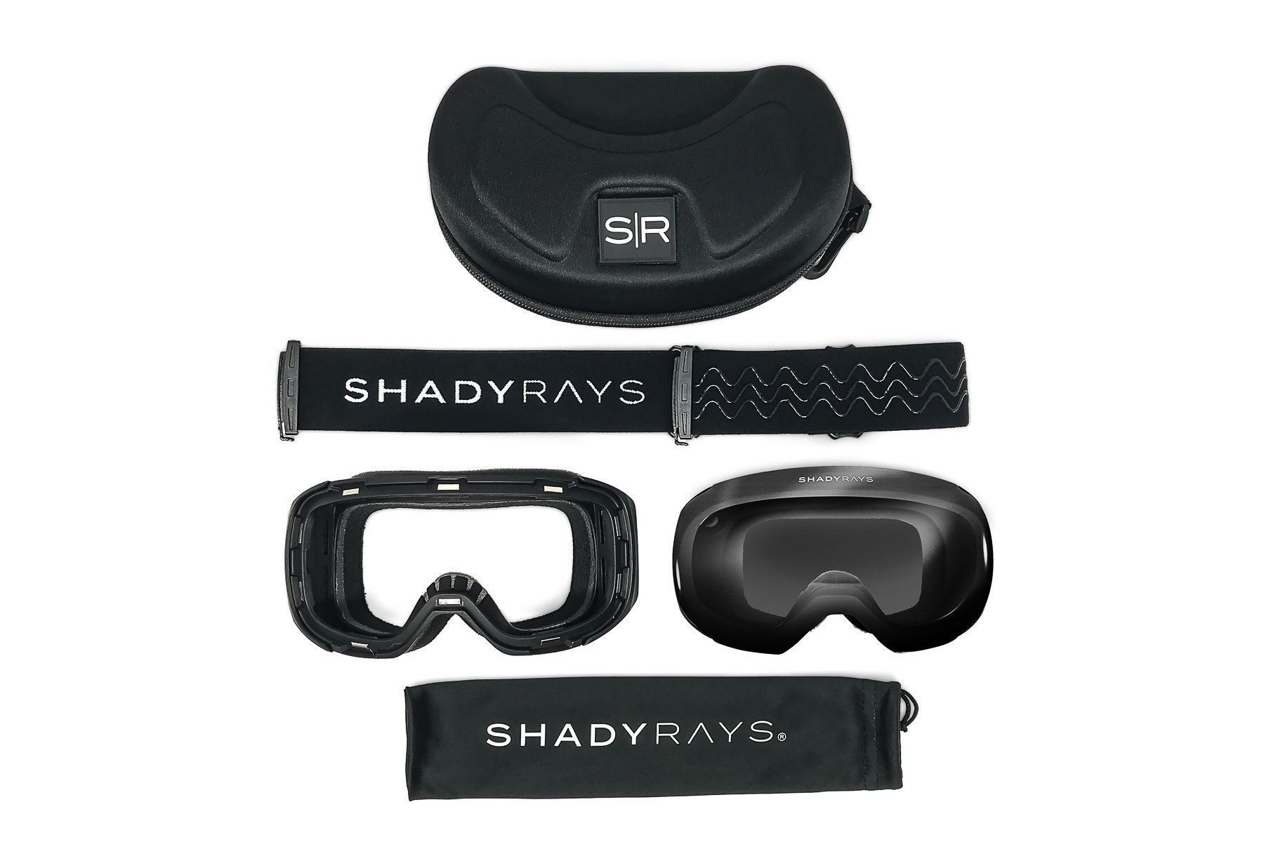 d721b19a3b Shady Rays Snow Goggles Magnetic Mask System + Blackout Non-Polarized Lens  sk-1