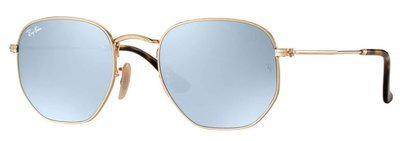 Ray Ban Hexagonal Flat Lenses Gold Silver Flash