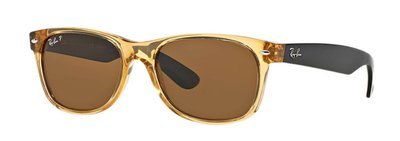 Ray Ban New Wayfarer Honey Black Brown Classic B-15 Polarized