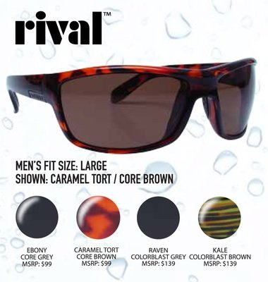 8efc5dc809ad Unsinkable Polarized Rival Caramel Tort   Core Brown. Rival Series